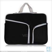 New black color factory price charming neoprene case pouch laptop sleeve bag for macbook air 13.3