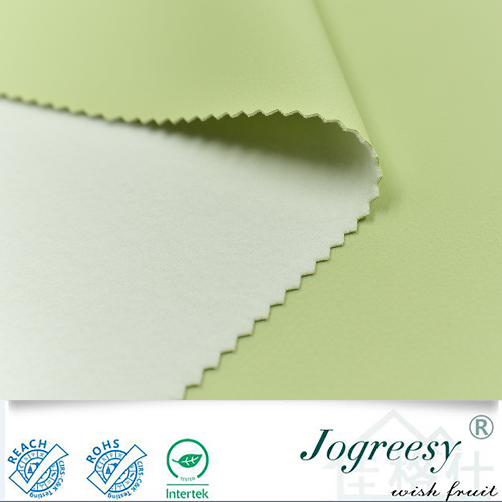 Light green and fresh small embossed PU leather for sofa