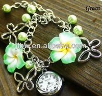 New Arrival Fashion Women Ceramic Quartz with flower Wrist Watch Lady MINI Flowers Bracelet Watches,Chrismas gift