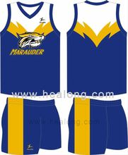 Healong Full Dye Sublimation Oem Sublimation Printing Australian Rules Football Jersey