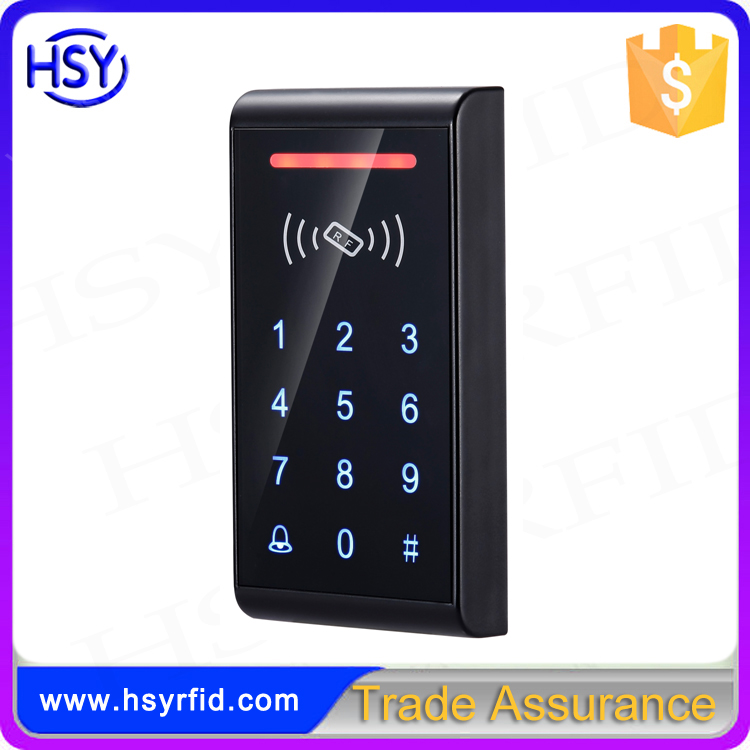 HSY-S187T Black door access control touch keypad stand alone rfid reader
