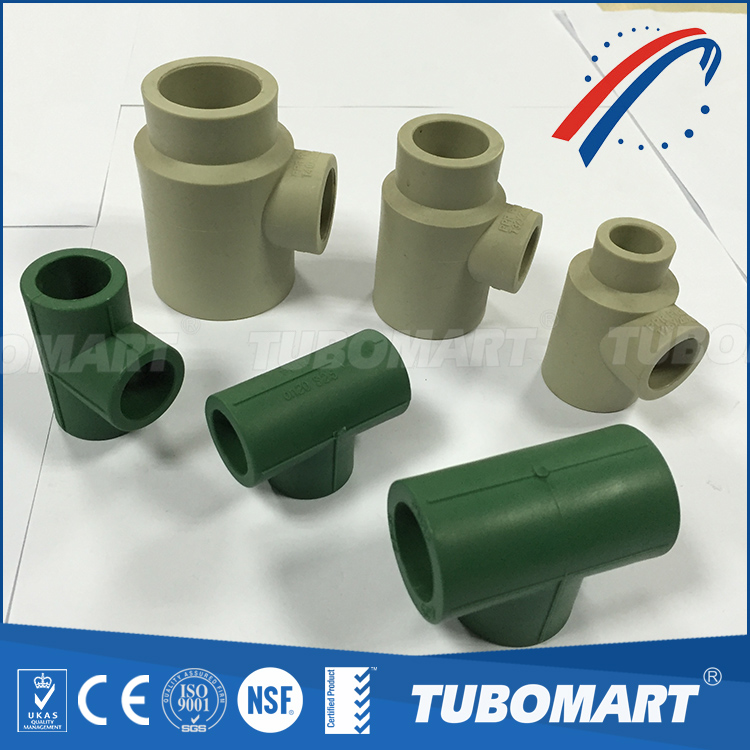 High Pressure pn20 3 way ppr equal tee union for hot and cold water