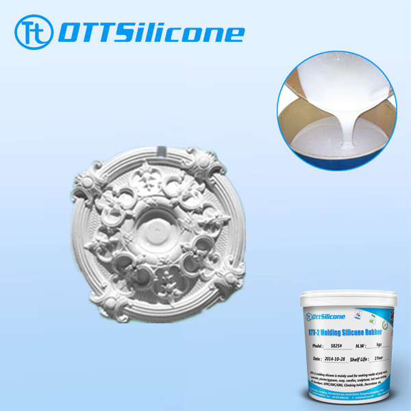 RTV2 liquid plaster molding/duplication silicone for corbel/cornice/ceiling roses