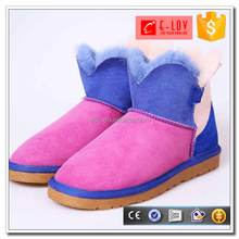 New arrival stitching color snow boots reasonable price durable shoes siyecao