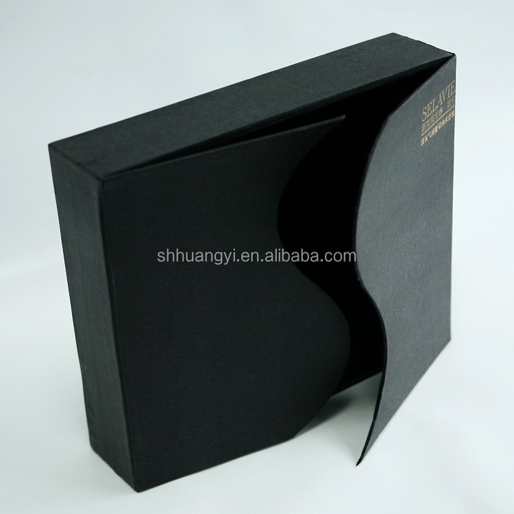 custom made shoe boxes hard cardboard gift boxes top and bottom base black shoe boxes