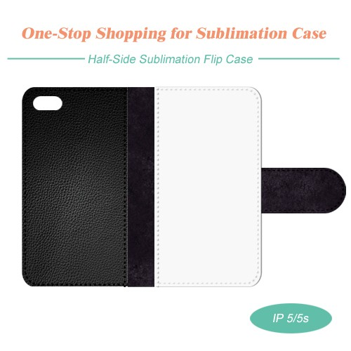 Sublimation Leather Phone Case for iPhone 5/5S with Full Size Printing
