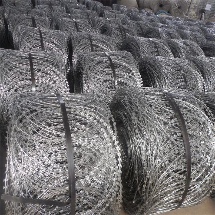 Cheap prices Factory Director Sale Concertina prison security mesh Flat razor wire fence