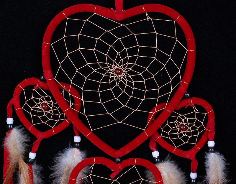 Heart design Wall hanging Decoration Red Dream Catcher MS8049