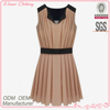Ladies' chiffon pleats slim fit casual high quality direct manufacturer pink princess prom dresses