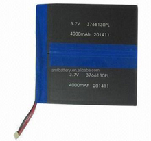 Li-polymer battery pack for tablet PC,3.7V 4000mAh,with CE/UL/UN38.3 certificate