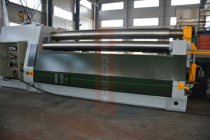 W11S-16X2500 CNC Hydraulic 3 Roller Plate Bending Machine, 3 Roller Plate Rolling Machine, 3 Roll Bending Machine