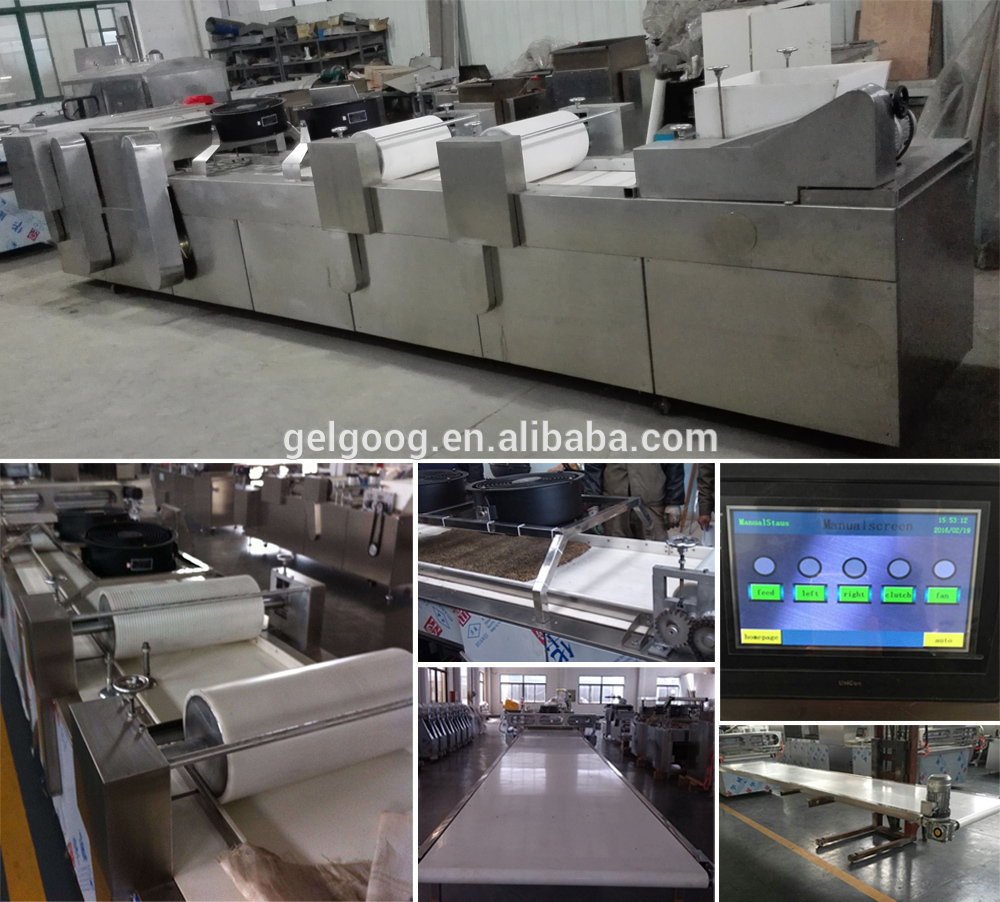 Automatic Energy Bar Chikki Peanut Candy Cutting Making Machinery Cereal Bar Production Line