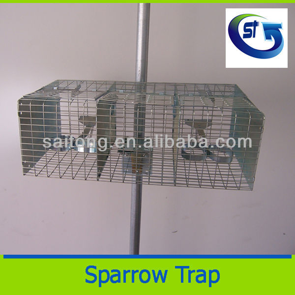 Rectangle 2 compartments Bird Catching cage