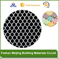 hexagonal polyester mesh for paving style selections porcelain glass mosaic tile