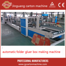 Advanced technology semi-auto corrugated box folding and gluing machine