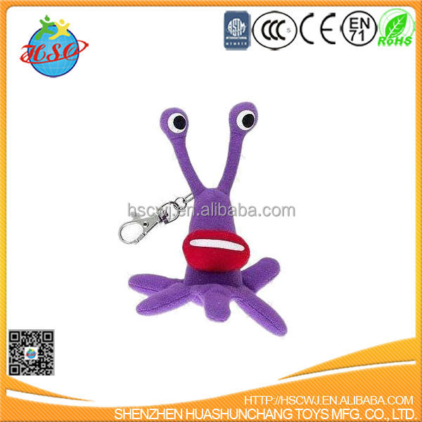 stuffed plush octopus toy keychain