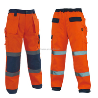 High Visibility Pants Work Men Trousers Models With Side Pocket