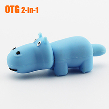 hot sale cheap usb pen drive , hippo shape usb flash drive , cartoon otg usb pendrive