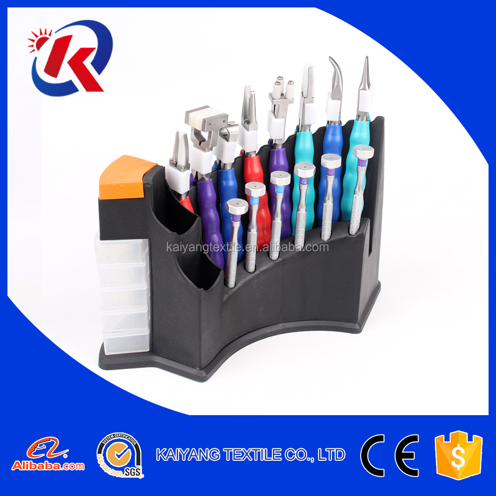 eyeglasses tools set including 8 pliers and 6 screw drivers