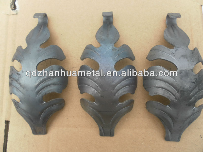 ornamental wrought iron metal stamping leaves/ stamped iron flowers and leaves