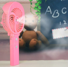 Usb Mini Air Cooler Fan Rechargeable Battery Operated Electric Fan With Water Spray