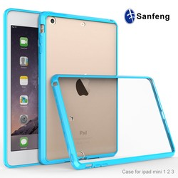Best Selling Colorful Soft TPU Back Cover Clear Case for iPad mini 1 2 3