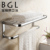 Gold Bath Towel Holder Shelf Wall Mounted Towel Rack