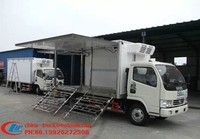 new Vegetable basket truck, mobile stage truck for roadshow