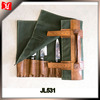 customized high quality leather waxed canvas chef tool knife roll bartender kit