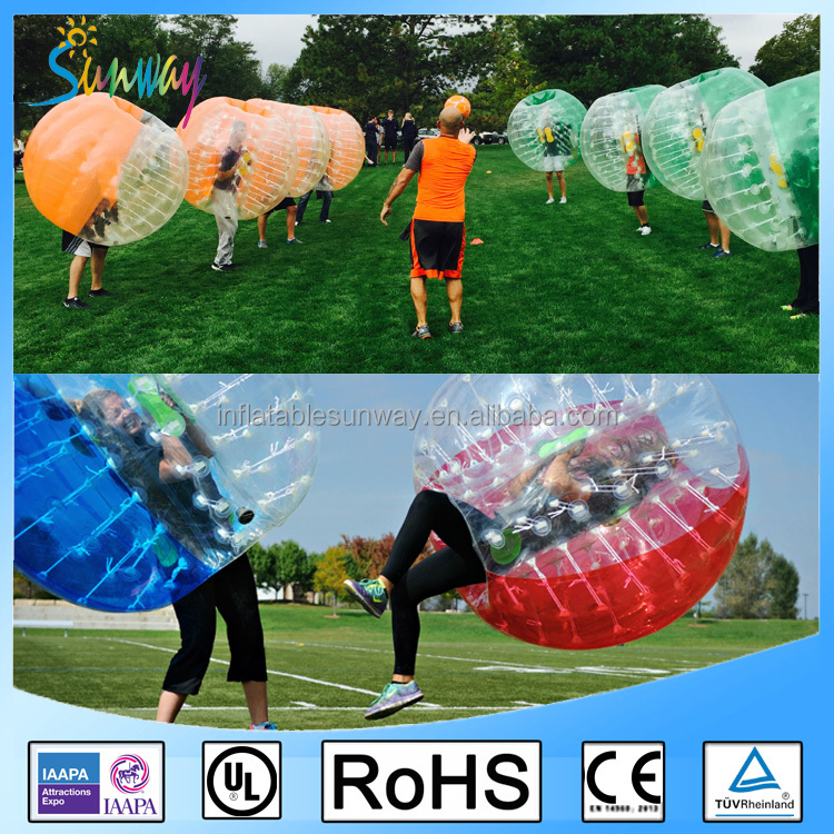 2016 Half color TPU bubble soccer bubble ball, half color bumper ball for sale