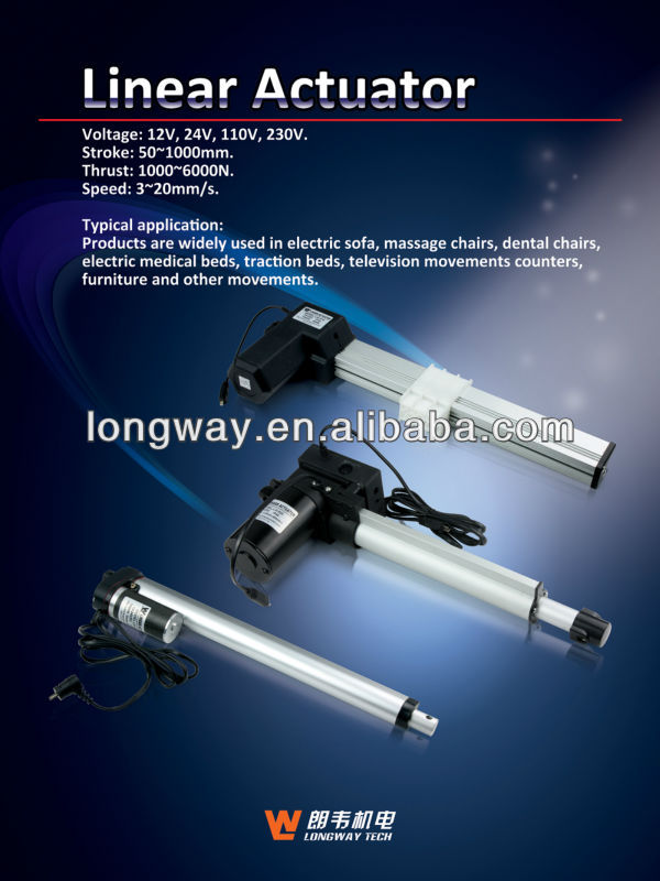 12V electric linear actuator for sex machine