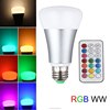 RGBW RGB Warm white led bulb dimmable remote 10w RGB E27 led light bulb for house living room decoration