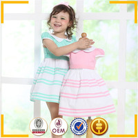 wholesale 100 % cotton material girls' dresses cap sleeve pink girls smocked dress