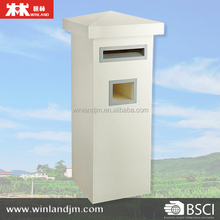 Free Standing Mailbox Letter Box with newspaper holder for Outdoor Use