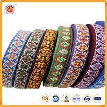 Promotional hot selling customized jacquard woven ribbon for garment / clothing