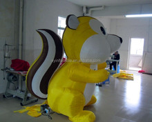 Character cartoon shaped giant inflatable squirrel for advertising