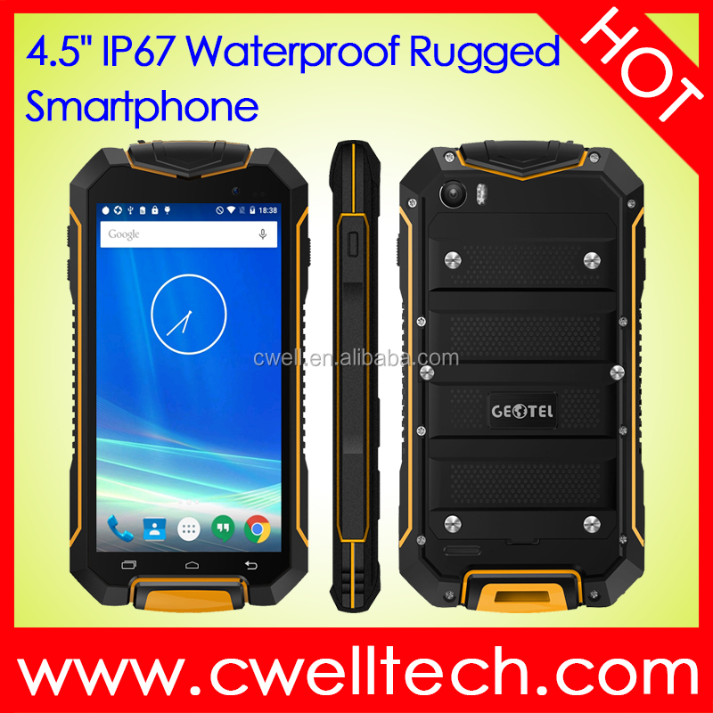 4.5 inch IPS Touch Screen 1GB RAM 8GB ROM Android 7.0 Nougat IP67 Rugged Smartphone GEOTEL <strong>A1</strong>