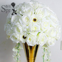 wedding event decorative white artificial flower ball table centerpiece flore for party backdrop arrangement decorations