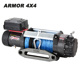 9500lbs 12V 24V 4WD off road 4x4 car electric winch with synthetic rope