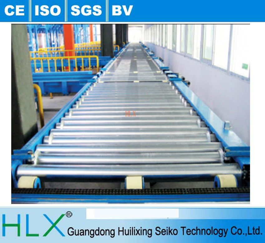 Manual roller conveyor for carton