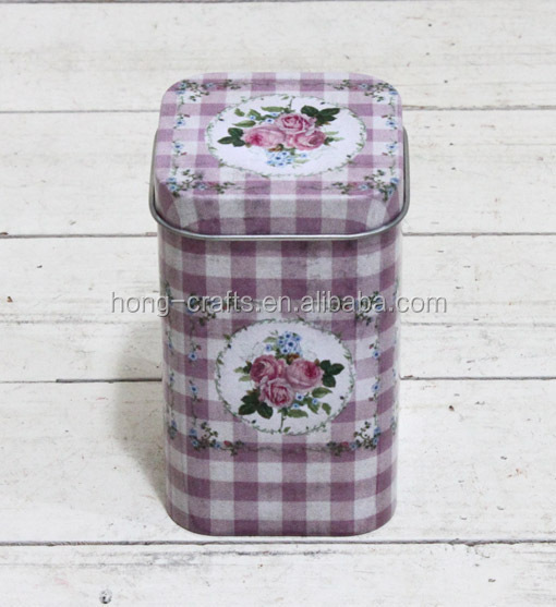 2016 antumn collection rose design tea candy tin box wholesale