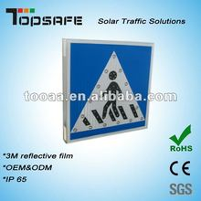 Aluminum Solar LED Pedestrian Safety Sign Board