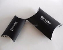 Custom Black Paper Pillow Gift Case Boxes For Packaging