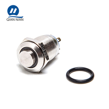 12mm high head ring led 220V low voltage metal push button switch