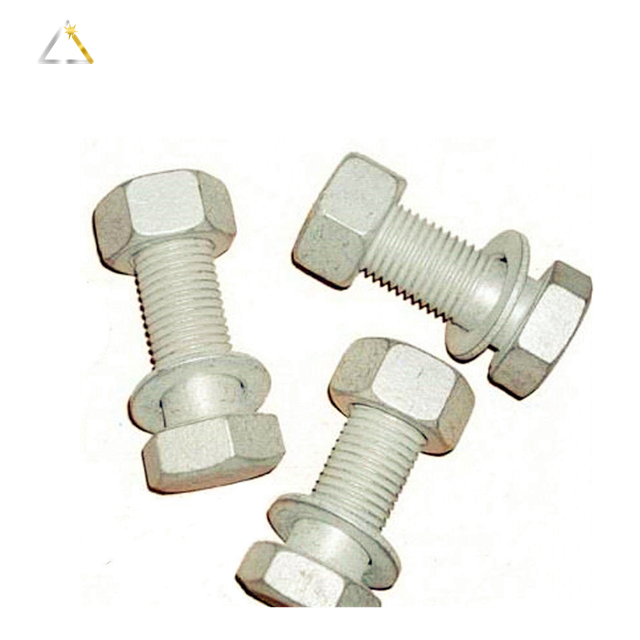 Hexagon Hex Head Galvanized Bolt With Nut
