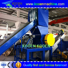 Plastic bottle and can crusher for recycling line