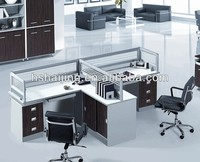Modern Wooden furniture MDF partition executive laminate l shape office partition