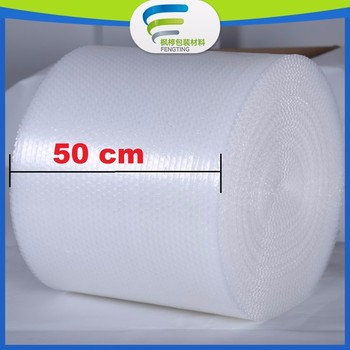 Professional packaging PE Air Bubble Roll / square bubble wrap 50cm