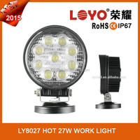 Auto waterproof new 27w car led tuning light/led work light sale