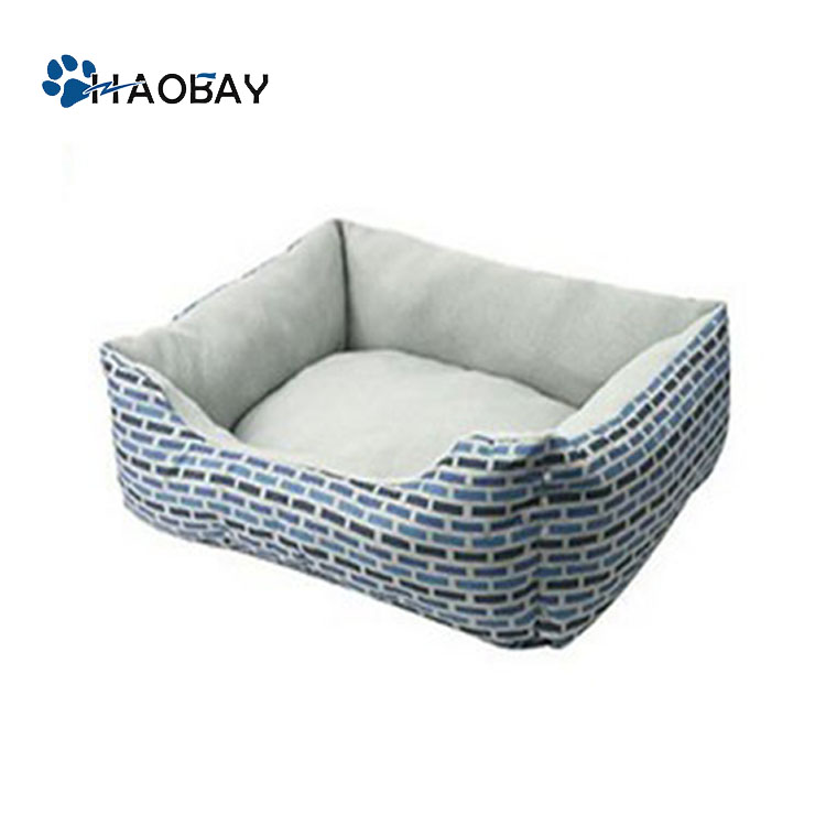 Plush Dog Bed Indoor Rectangle Warm Pet Bed